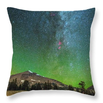 Lassen Nights Throw Pillow