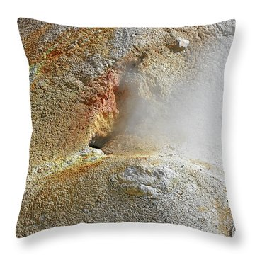 Lassen Volcanic National Park - Living Museum Of Vulcanism Throw Pillow by Christine Till