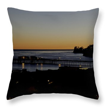 Last 2015 Sunset Throw Pillow