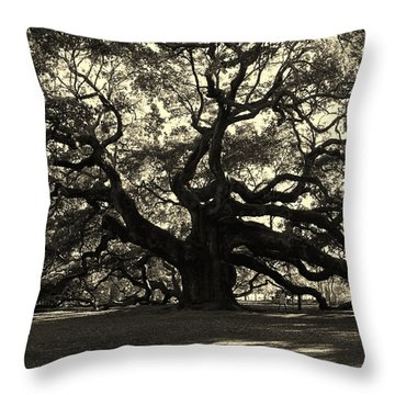 Last Angel Oak 72 Throw Pillow