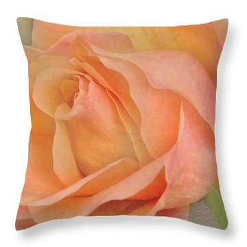 Last Autumn Rose Throw Pillow