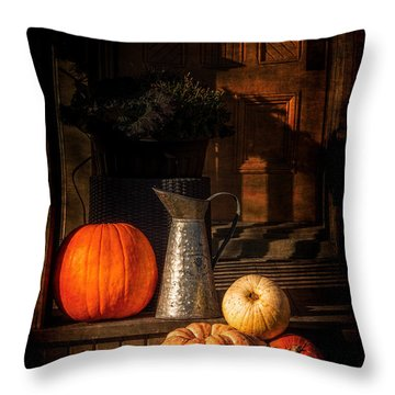 Last Autumn Sunlight Throw Pillow by Celso Bressan
