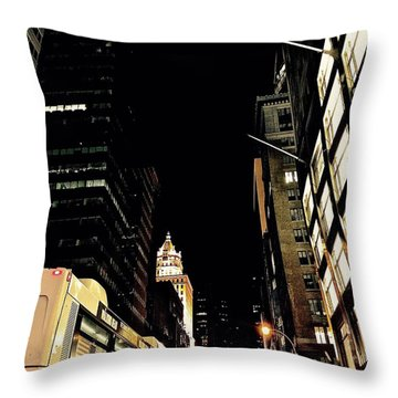 Last Bus Throw Pillow by Gillis Cone