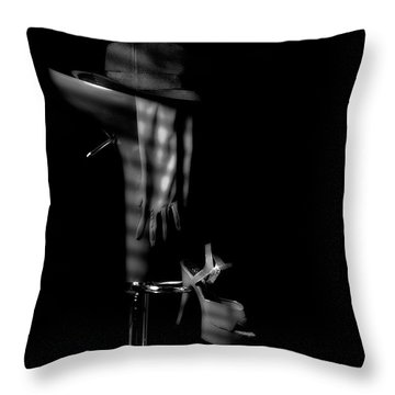 Last Call In Black And White Throw Pillow