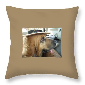 Last Car Ride Throw Pillow by Val Oconnor