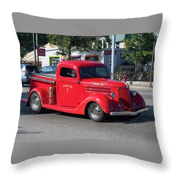 Last Chance Hose Company Throw Pillow by Suzanne Gaff
