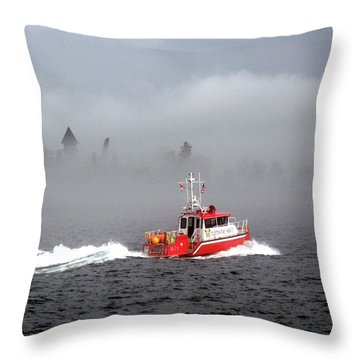 Last Chance Off Calument Island Throw Pillow