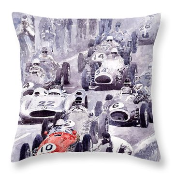 Last Control Maserati 250 F France Gp 1954 Throw Pillow