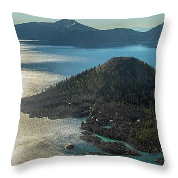 Last Crater View Throw Pillow