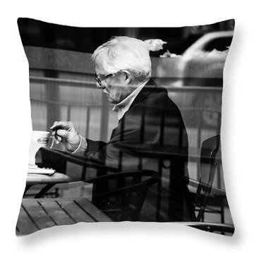 Last Cup Throw Pillow