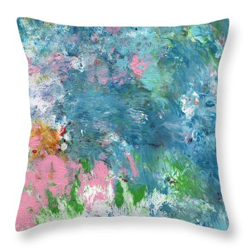 Last Dance- Abstract Art By Linda Woods Throw Pillow