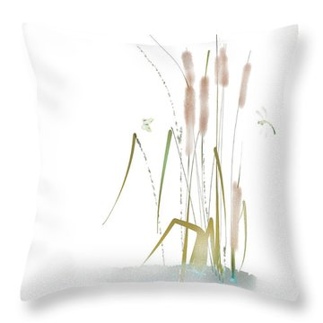 Throw Pillow featuring the mixed media Last Summerdance by Larry Talley