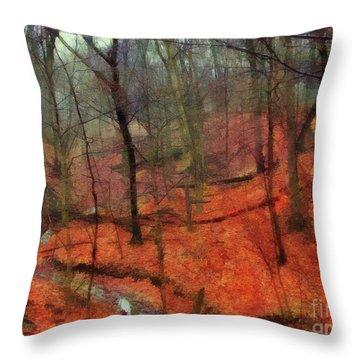 Last Days Of Autumn Throw Pillow by Cedric Hampton