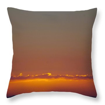 Last Glance Throw Pillow by Victor K