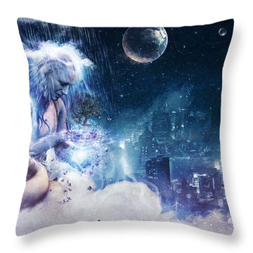 Last Goodbye Throw Pillow by Cameron Gray