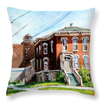 Last House Standing Throw Pillow
