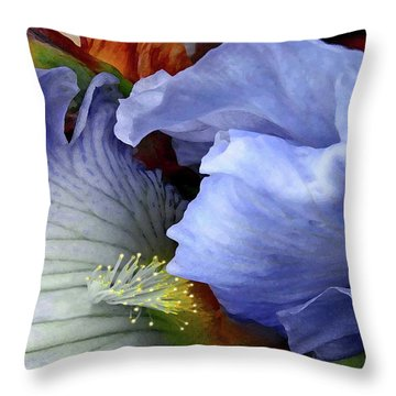 Last Iris Throw Pillow