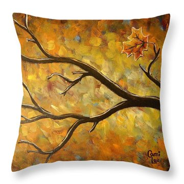Last Leaf Throw Pillow