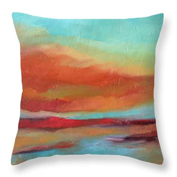 Last Light Throw Pillow by Filomena Booth