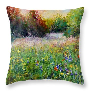 Last Light Throw Pillow by Hailey E Herrera