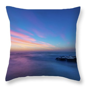 Last Light In April, Sunset Clifs Throw Pillow