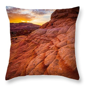 Last Light Throw Pillow by Inge Johnsson