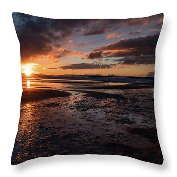 Last Light Throw Pillow by Justin Johnson