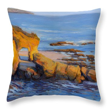 The Golden Hour / Laguna Beach Throw Pillow