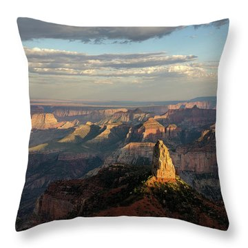 Throw Pillow featuring the photograph Last Light Mt Hayden by Gaelyn Olmsted