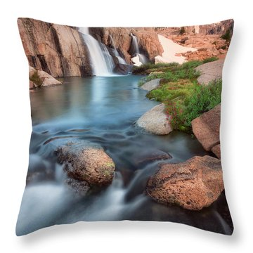 Last Light Throw Pillow by Nicki Frates