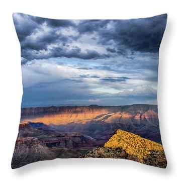 Last Light On Freyas Castle Throw Pillow