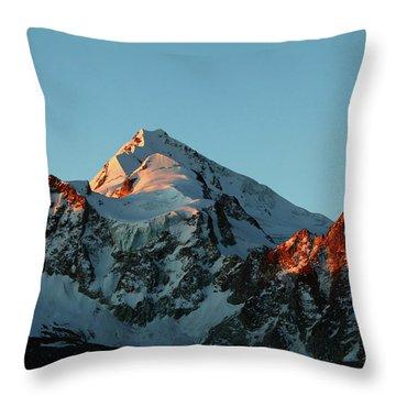 Last Light On Mt Huayna Potosi Throw Pillow