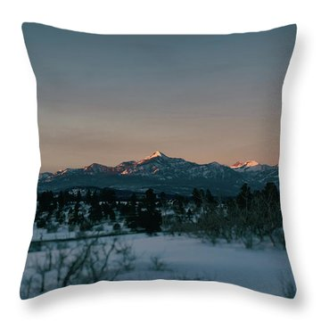 Last Light On Pagosa Peak Throw Pillow