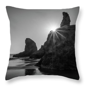 Last Light On The Coast Throw Pillow