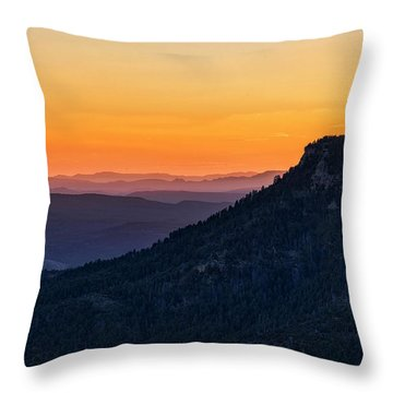 Throw Pillow featuring the photograph Last Light On The Rim  by Saija Lehtonen