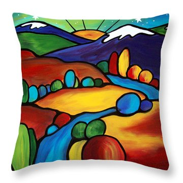 Last Light Over The Arroyo Throw Pillow