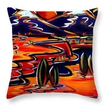 Last Light Over The Spanish Peaks Throw Pillow
