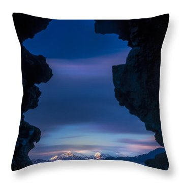 Last Light Through Lava Throw Pillow