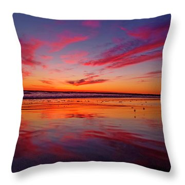 Last Light Topsail Beach Throw Pillow by Betsy Knapp