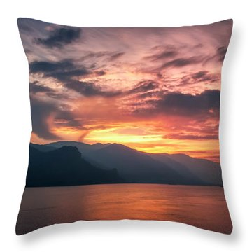 Last Light - Wide Throw Pillow