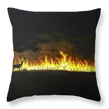 Throw Pillow featuring the painting Last Look Back At Home by Kevin Daly