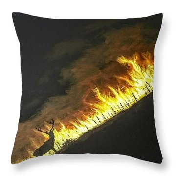 Throw Pillow featuring the painting Last Look Back Home by Kevin Daly