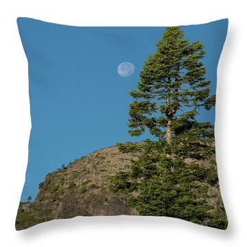Last Moments Of A Full Moon Throw Pillow