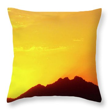 Last Moments Sunset In Africa Throw Pillow
