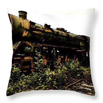 Last Of The 309  Steam Train  Throw Pillow