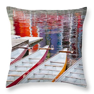 Last Of The Dragon Boats Throw Pillow