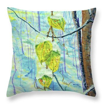 Last Of The Leaves Throw Pillow
