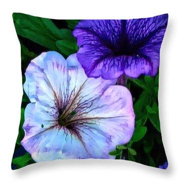 Last Of The Petunias   Throw Pillow