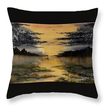 Last One Out Throw Pillow