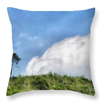Last One Standing Throw Pillow by Jeff Kolker